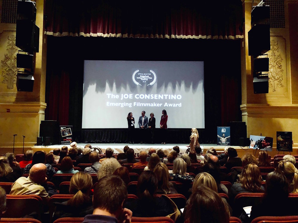 The Ridgefield Independent Film Festival  honors director Noor Gharzeddine with the   Joe Consentino Emerging Filmmaker Award  .