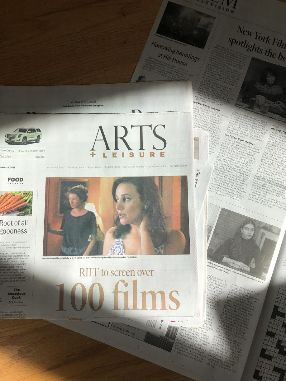 Woke up to find ourselves on the cover of the Arts & Leisure section in Connecticut!