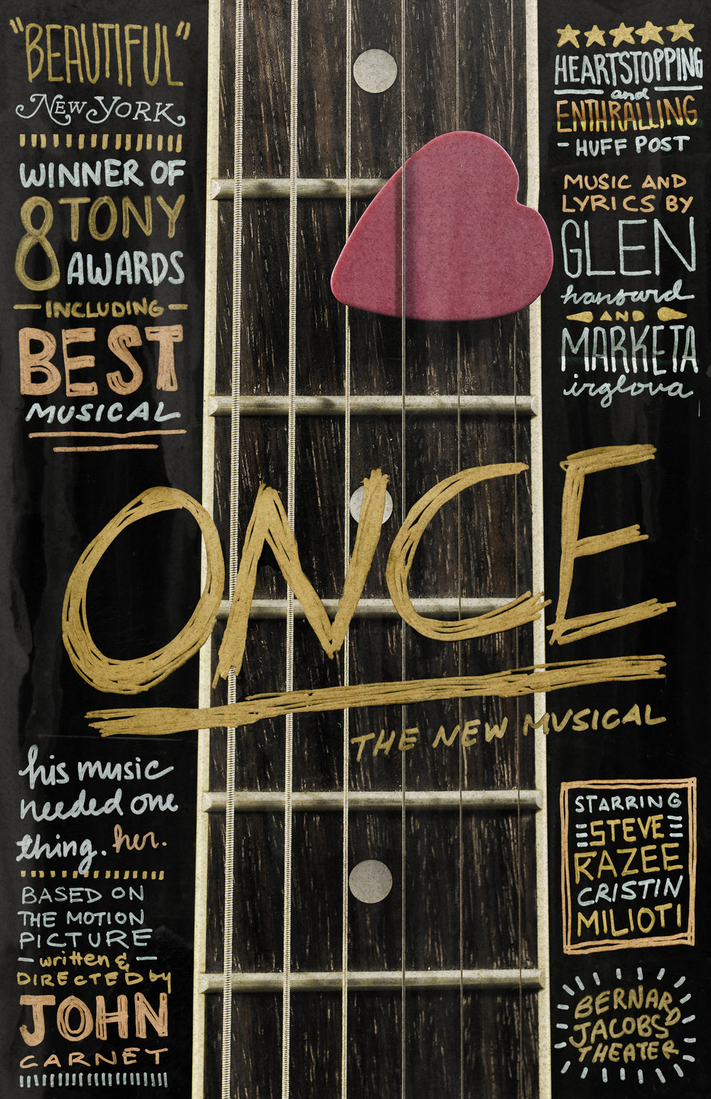 Once: The Musica  l theater poster, 2013 (student work)