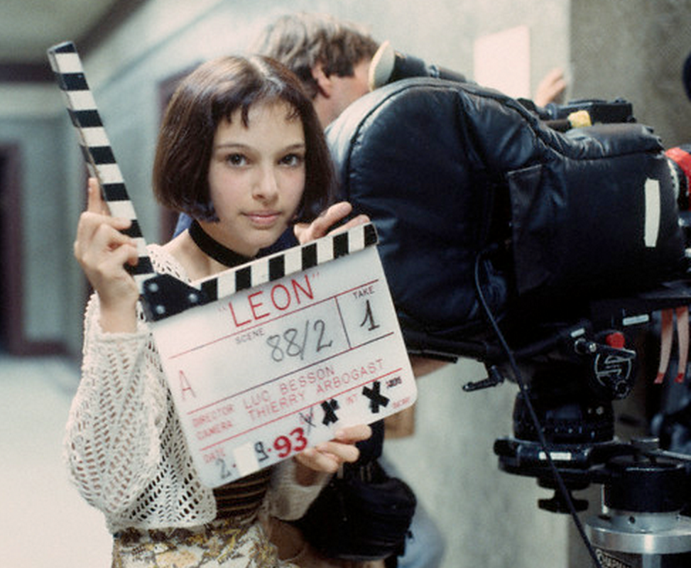 Natalie Portman on the set of  Leon