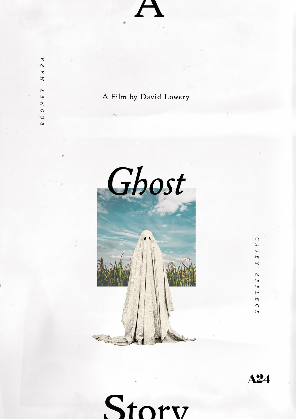 A Ghost Story   alternate poster, personal work, 2017
