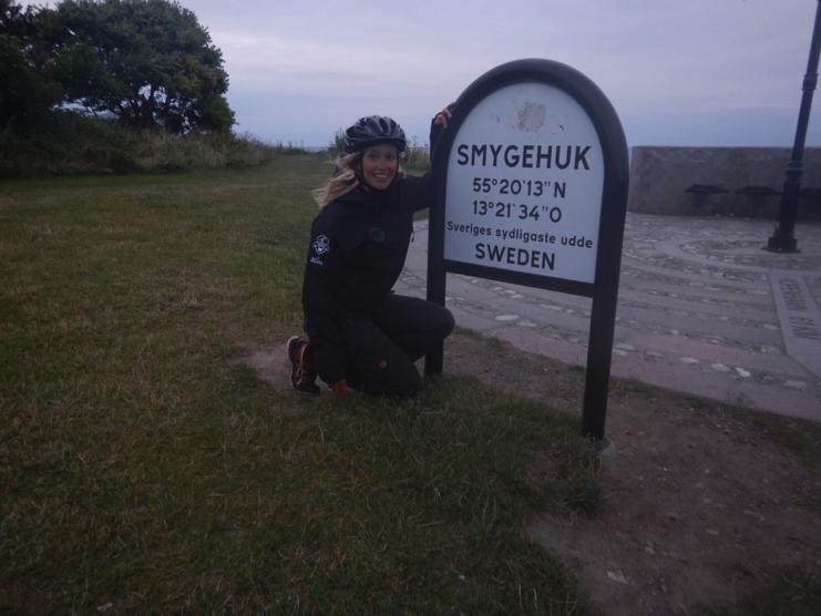 Framme i Smygehuk, målet på min resa. Sveriges sydligaste udde.