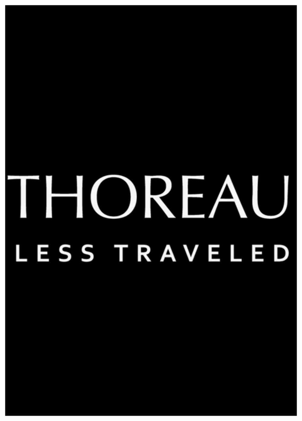 Thoreau Less Traveled