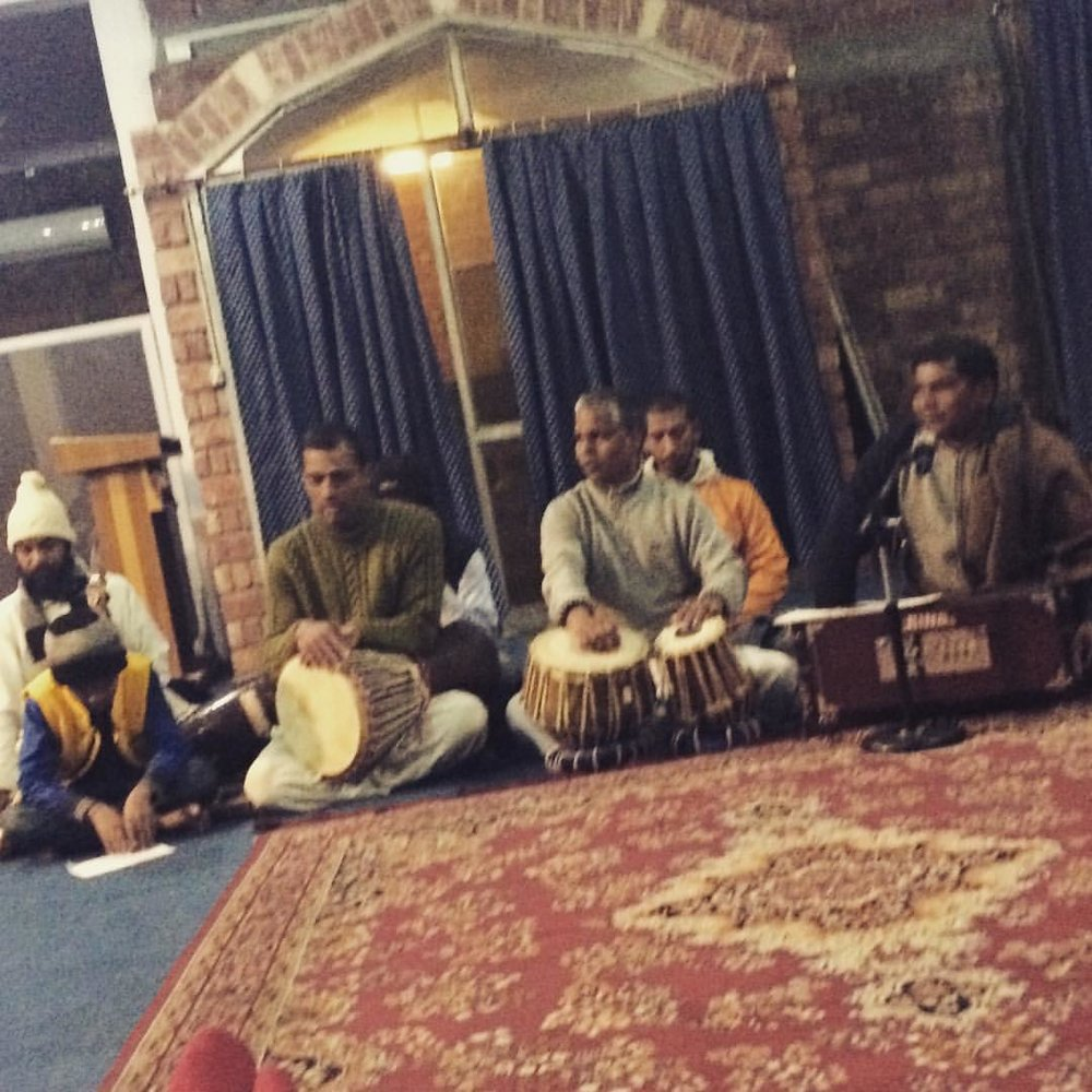 Tonight, some of the teachers performed Kirtan, music from the traditional of Bhakti yoga, the path of devotion. So cool!  (at Swami Rama Sadhaka Gram)