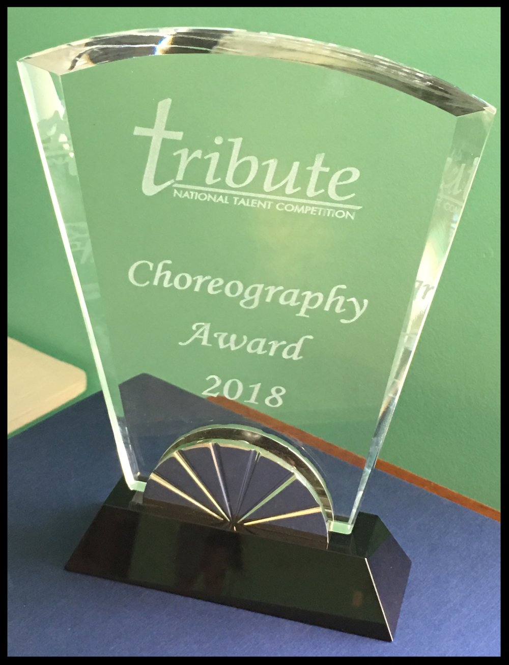 CONGRATULATIONS  to  RACHEL DERATANY  for receiving a prestigious  CHOREOGRAPHY  award at the 2018 Tribute National Talent Competition!