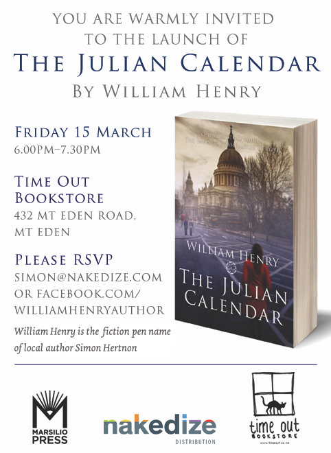 Book Launch The Julian Calendar By William Henry Time Out Bookstore