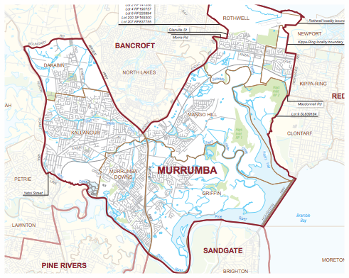 The new seat of Murrumba. Click for full map.