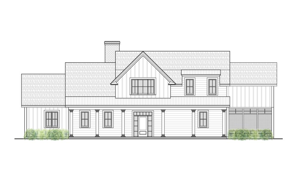 modern farmhouse iii front elevationpng - Farmhouse Elevations