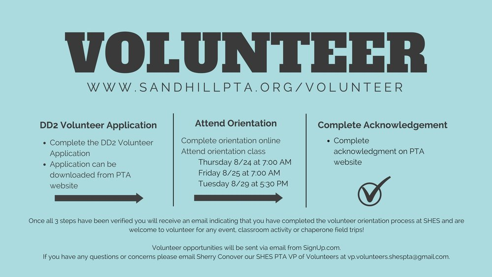 INTERESTED IN VOLUNTEERING OR BEING A CHAPERONE ON A FIELD TRIP-You will need to complete these 3 steps-1. Complete the DD2 Volunteer Application2. Complete an Orientationa. Class (See dates below)b. Online Orientati.jpg