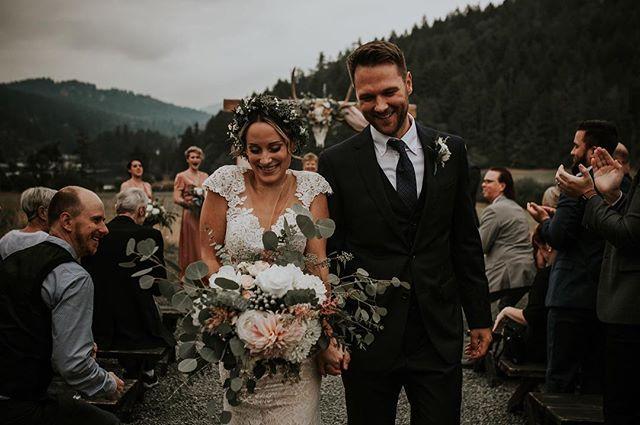 That newlywed strut.  #caitkennedyphotography . . #lookslikefilmweddings  #photobugcommunity #vancouverwedding #realweddings #bcwedding #vancouverislandwedding