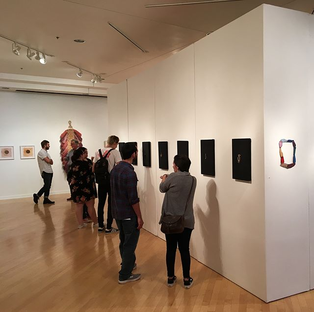 Chromatic Drift - Deftly curated by @sarahdarro -  Open through April 12 at Texas A&M International University. - Proud to join fellow #crafthouston resident artists @dang_craft @hiromiiyoda @mollymoso @hannahoatman @angel_oloshove @liz_robb - Thanks to @natashahovey & @ozotso