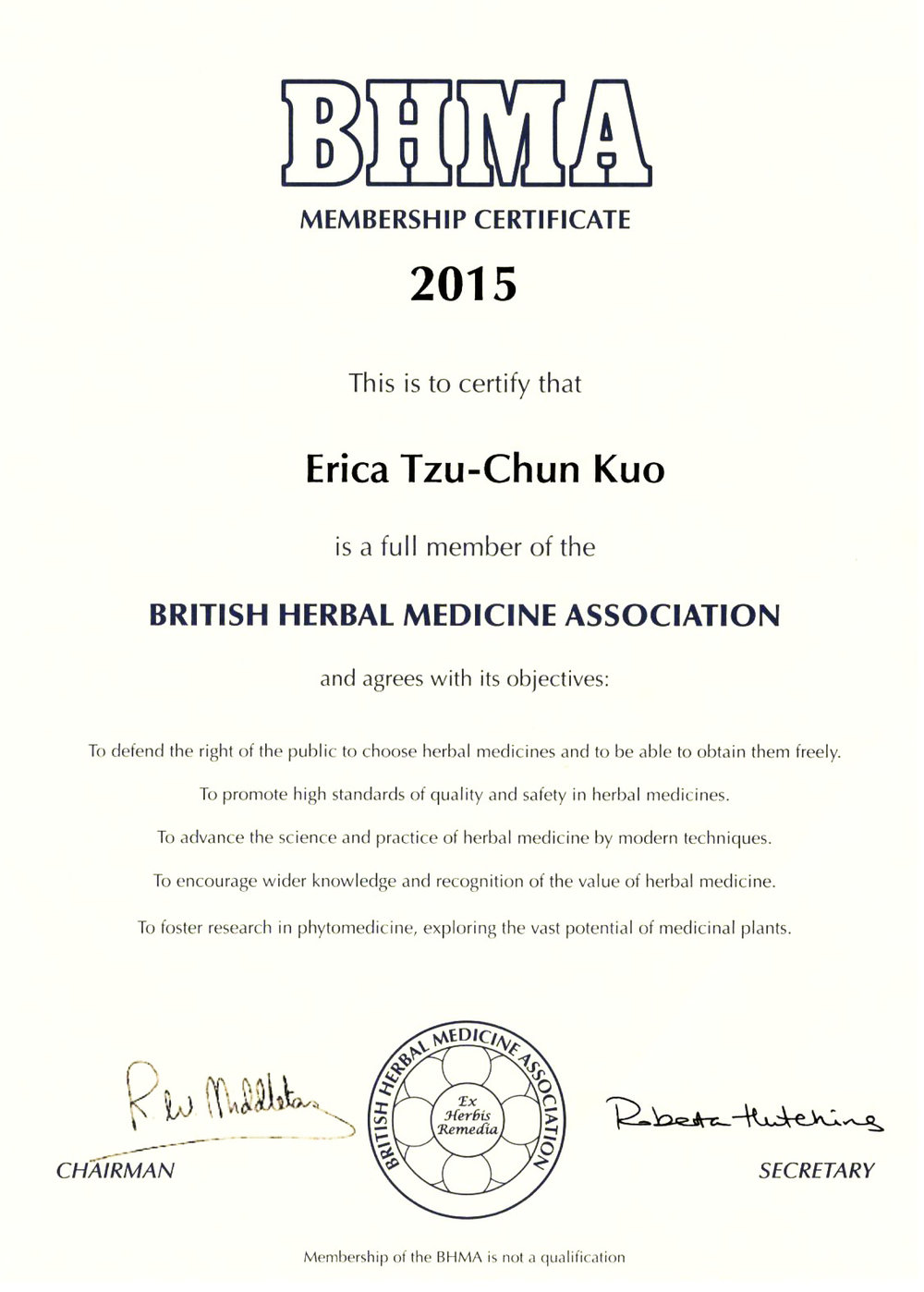British herbal medicine association - I Not Only Focus On The Properties Of Herbs But Also On Herbs Safety And Interaction With Medicine Chinese Herbs And Supplements