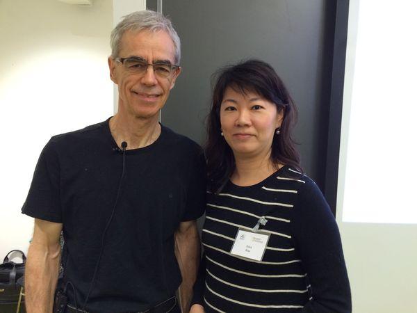 2015英國倫敦與Robert Tissernad 合照,參加芳療藥理學