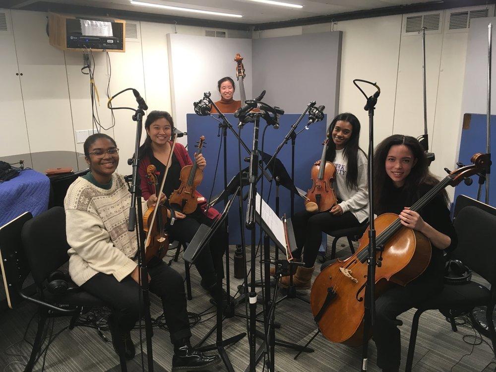 Recording strings for solo album