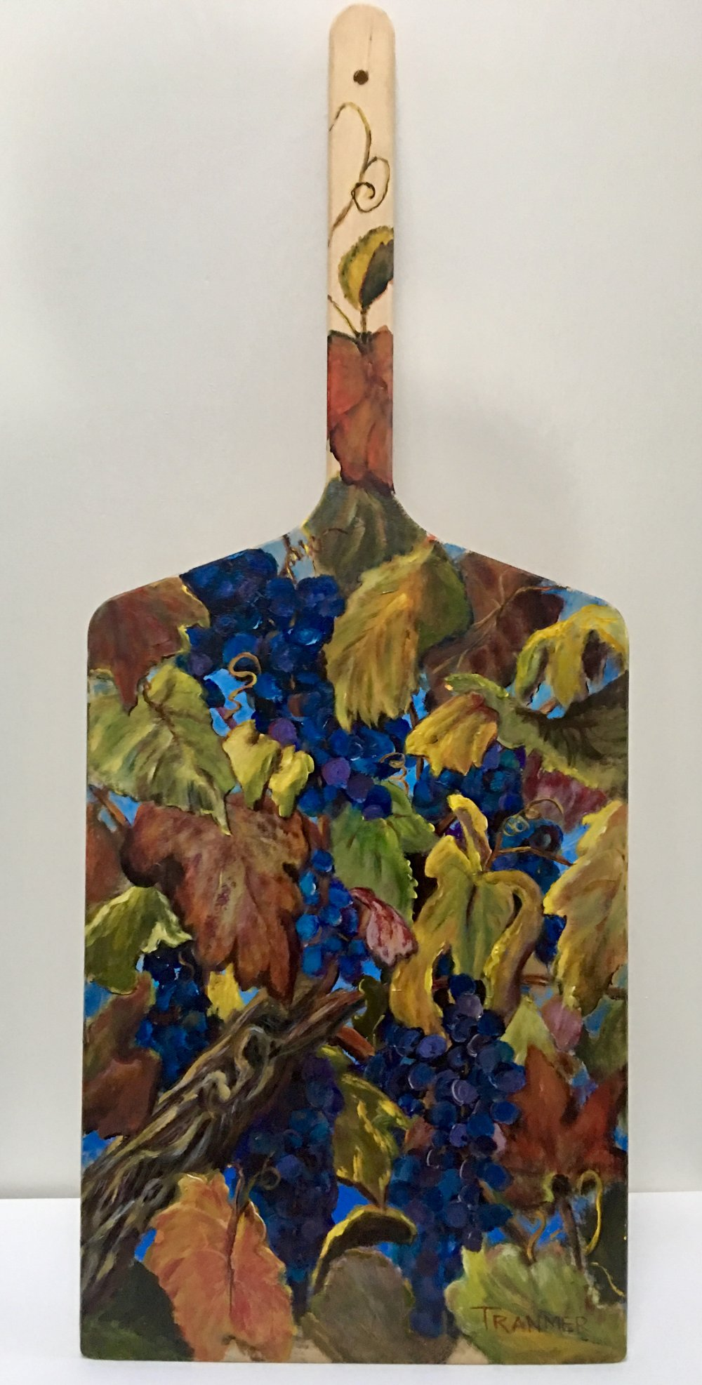 """Love Those Grapes!  29"""" x 12""""  $450 SOLD"""
