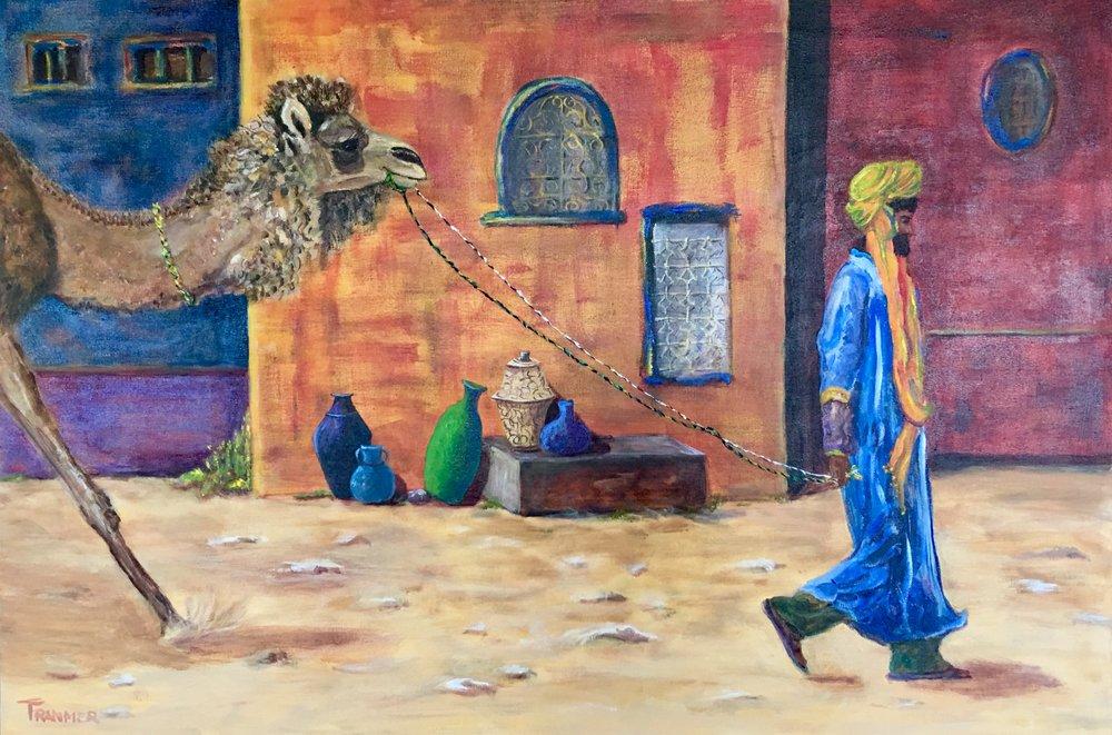 "Moroccan Morning Stroll  24""x30"" $1400"