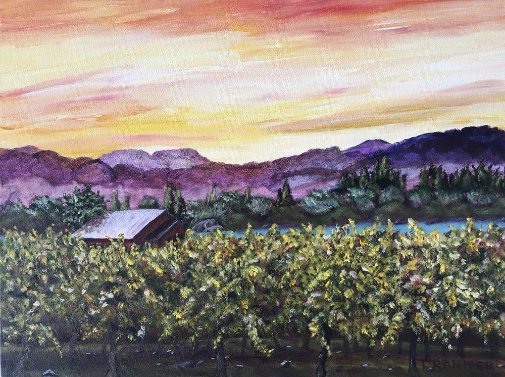 "Lakeside Vineyard  16""x20""  $700"
