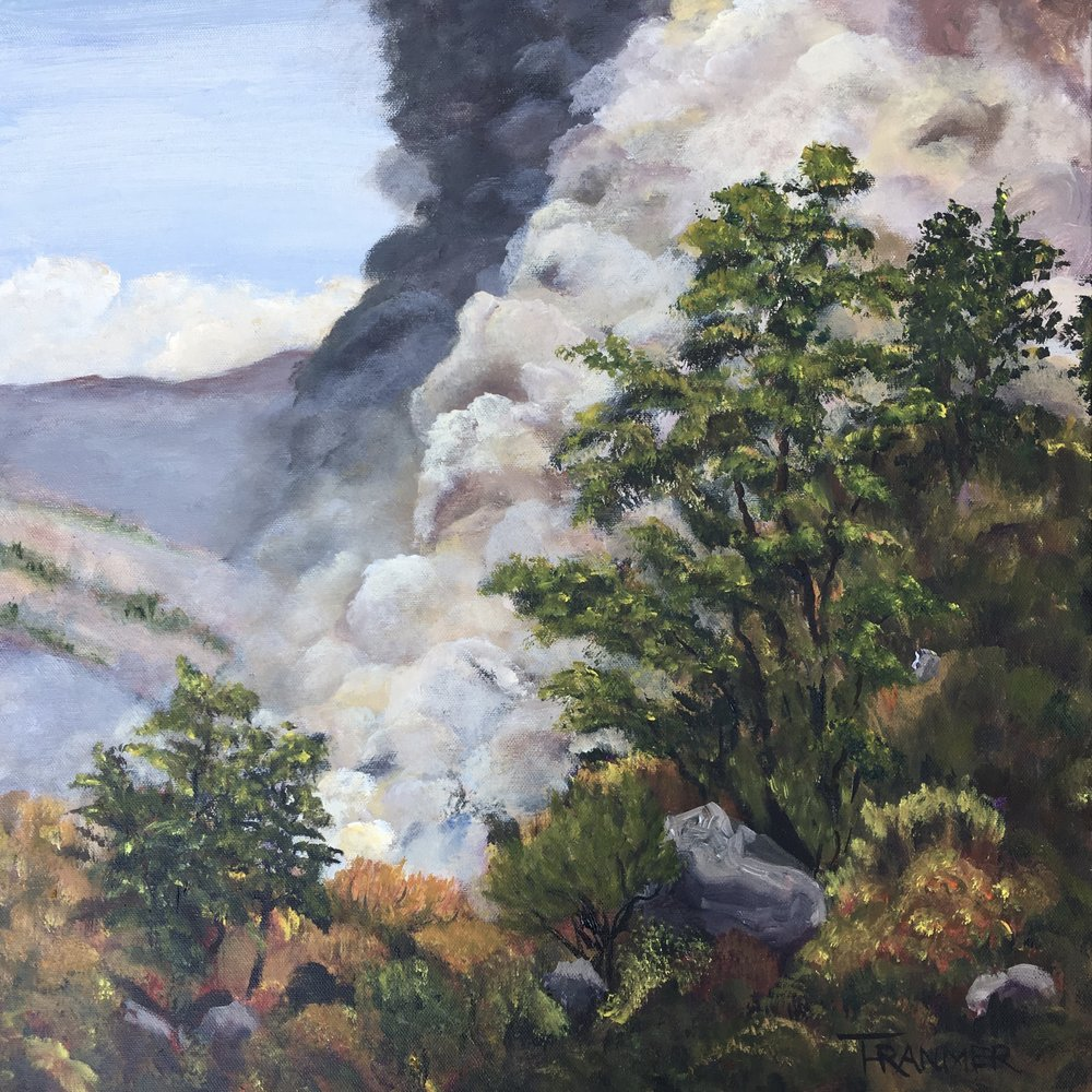 "Napa Wildfire 2017  20""x20""  $1200"