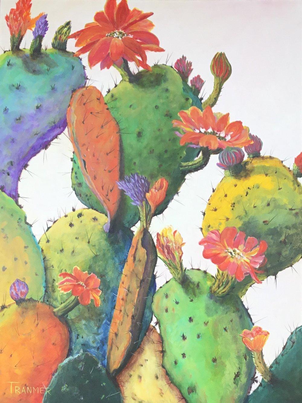 "Bloomin' Cactus  32"" x 24""  $1800"