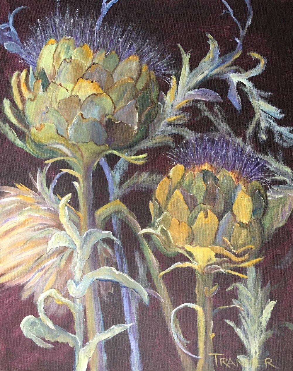 """Artichokes in Bloom  20""""x16""""  $850"""