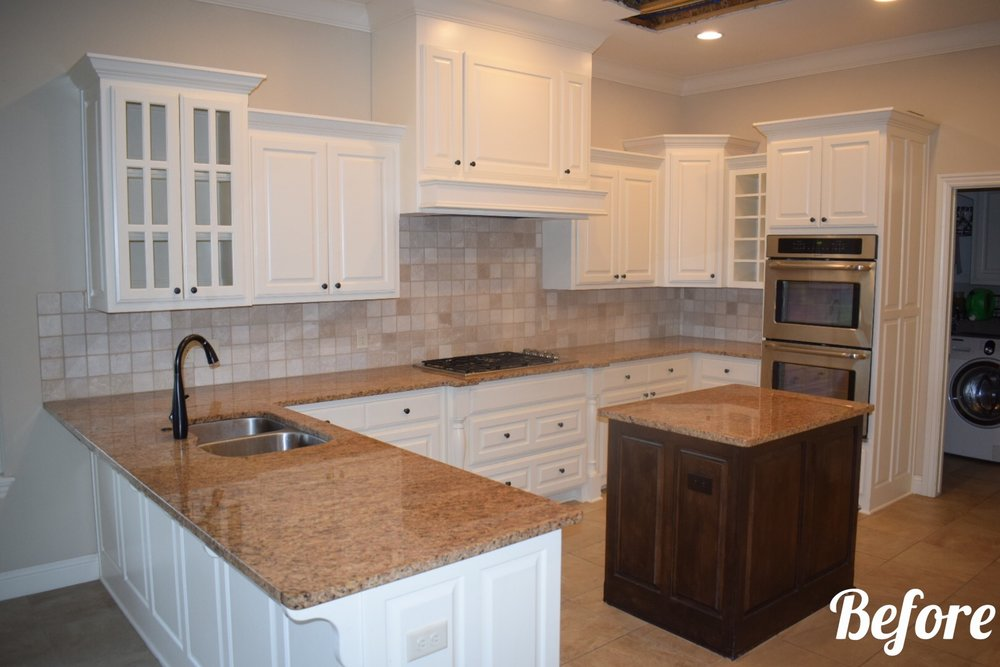 Granite Backsplash Cabinet Kitchen