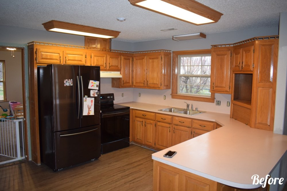 Sonora Lakehouse remodel Kitchen cabinets countertops
