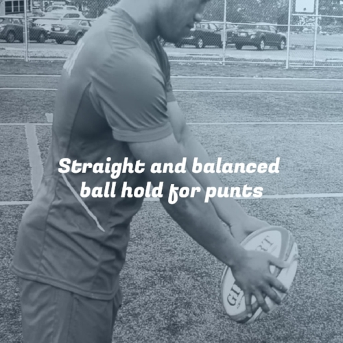 Straight and balanced ball hold for punts Take your #rugbykicking to the next level. #rugby #KickingCoach