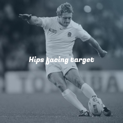 Hips event facing target Take your #rugbykicking to the next level. #rugby #KickingCoach