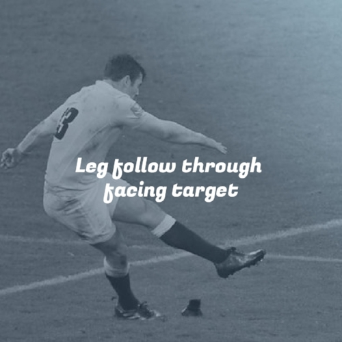 Leg follow through facing target Take your #rugbykicking to the next level. #rugby #KickingCoach