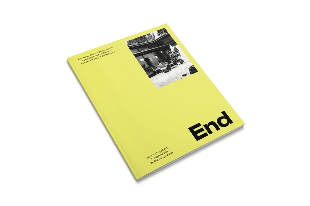 End Magazine - All winners and honorable mentions will be featured in a minimum of one full page. Larger projects will receive a two-page spread.Endis a high-quality, glossy environment and design publication printing 20,000 copies and distributing from Southampton to Montauk. Half of the copies will be inserted into The East Hampton Star and half will be on racks across the East End.