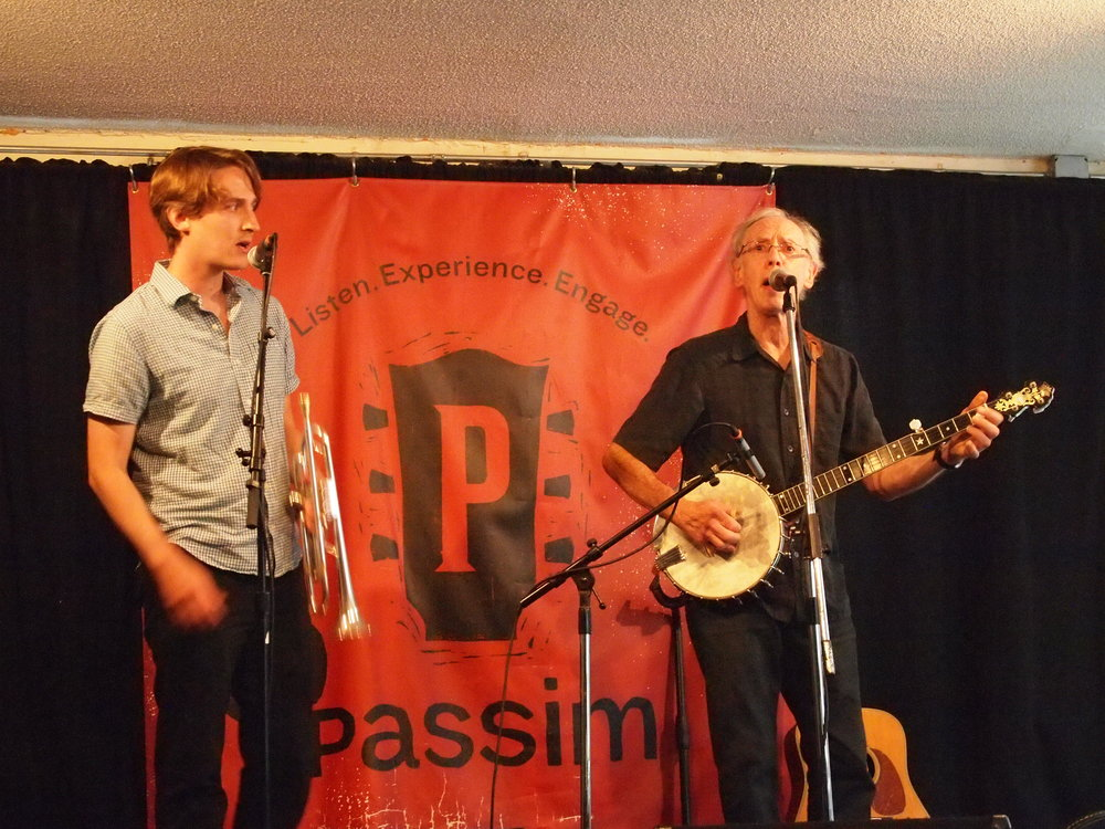 Daniel and Phil Rosenthal performing at Club Passim