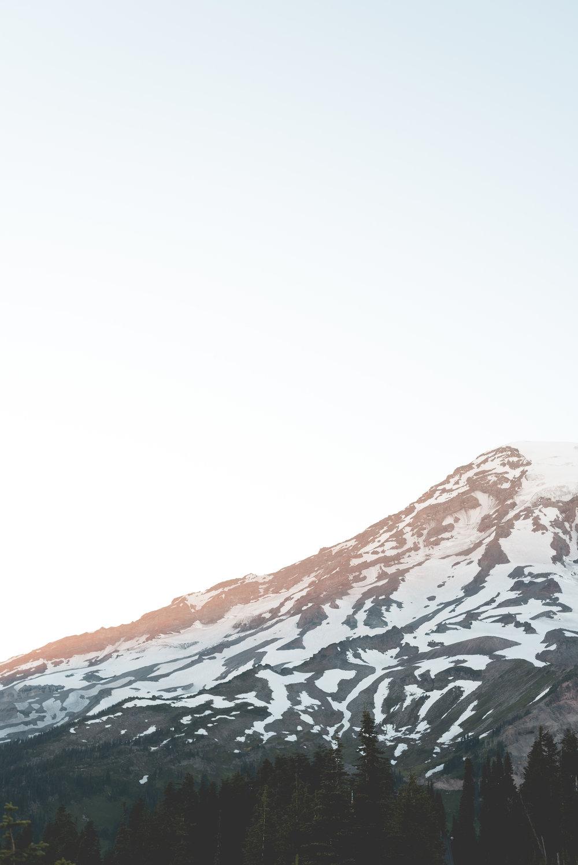Sunset casting light onto Mount Rainier. ISO 200, f/3.5 1/160.