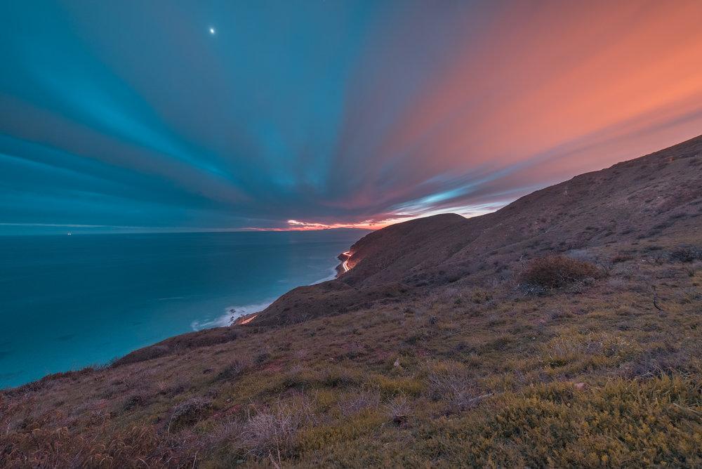 Deer Creek Canyon, Malibu, CA. ISO 640. f/4.5 30 seconds.