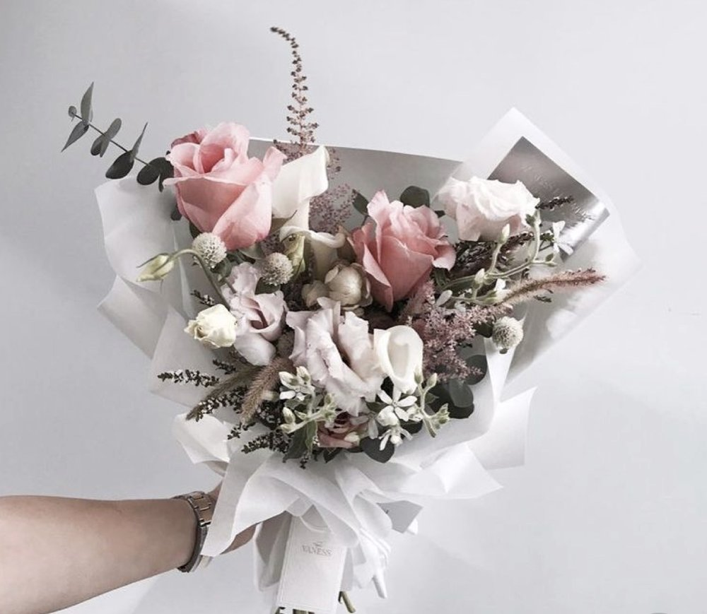*please note, this was an image found on Pinterest. This is an example of size and style of our small hand tied bouquet.