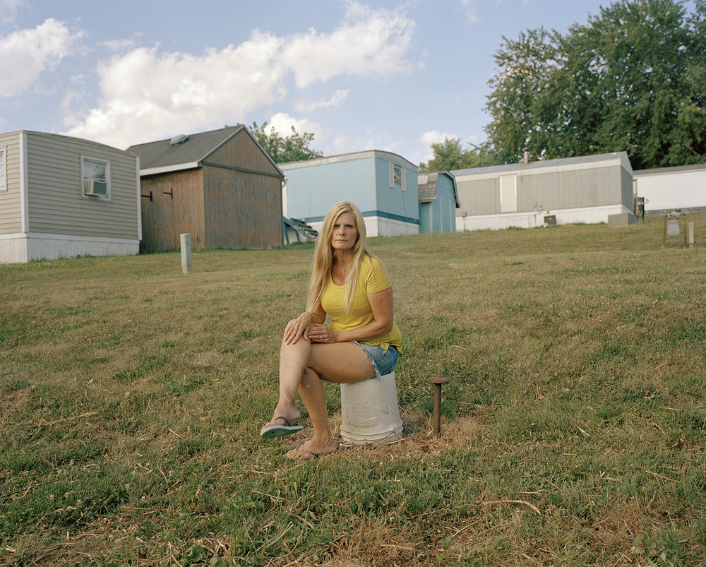 Aunt Becky Sitting on a Bucket , 2017 ©  Lindley Warren
