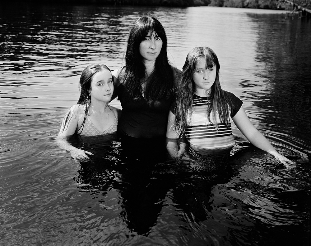 Jen Ervin with the Twins, Little Pee Dee River, South Carolina, 2016 © Ashley Kauschinger
