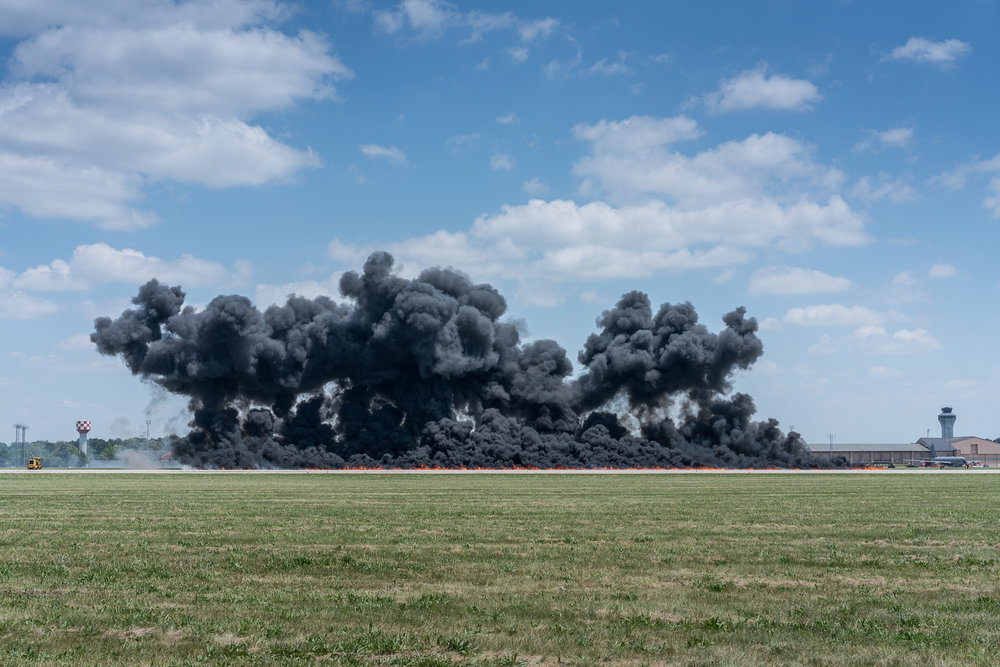 Explosion, Scott Air Force Base, Illinois, 2017 © Nate Larson
