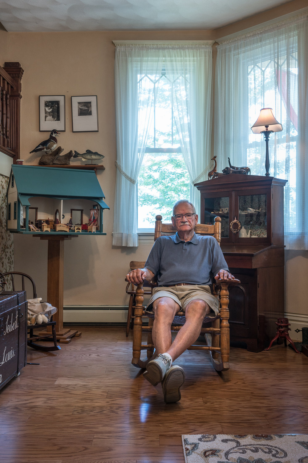 Jack with Doll House Built for his Wife, Mascoutah, Illinois, 2017 © Nate Larson
