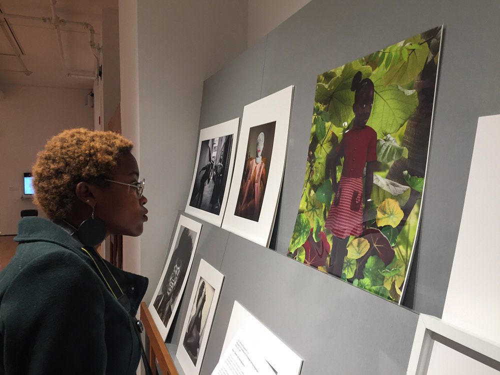 Tyvonne Green at Museum of Contemporary Photography with Ruud van Empel Print, Fall 2017