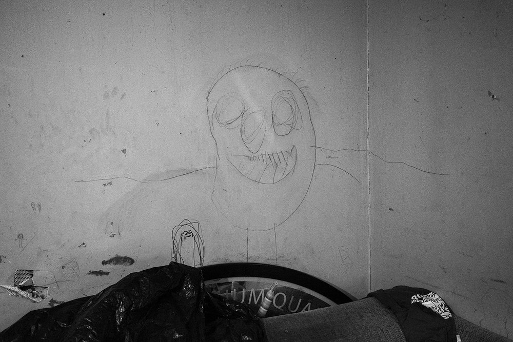 Meth monster graffiti, Sand Mountain, Marshall County, Alabama © Jared Ragland