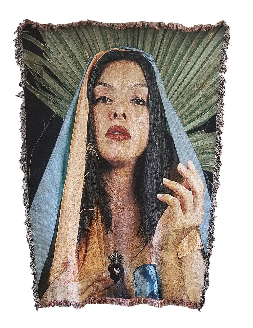 "La Virgen De Guadalupe,  100% cotton, 60x80"", 2018 © Gabi Maglay"