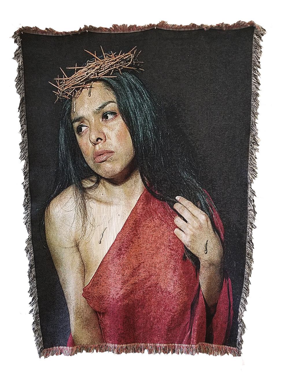 """Señora Jesucrista,  100% cotton, 60x80"""", 2018 © Gabi Maglay"""