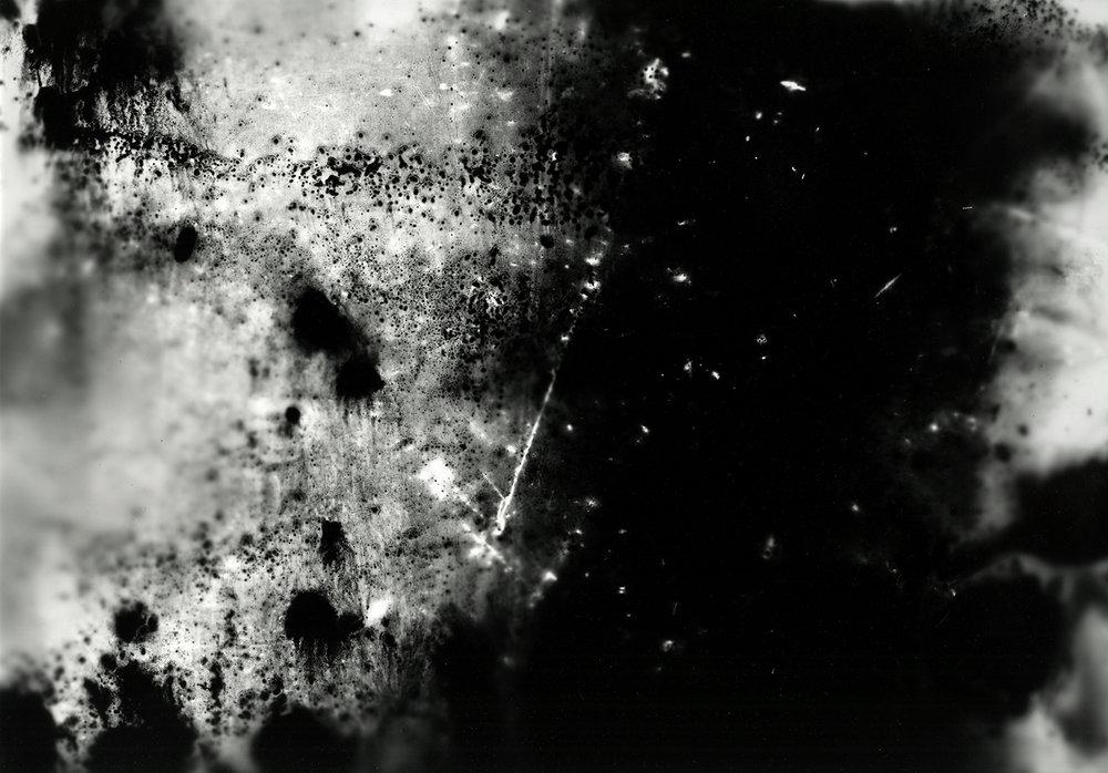 Abstrograph no. 12 (positive) ,  Gelatin silver photograph,  16 x 20 inches  Year: 2018