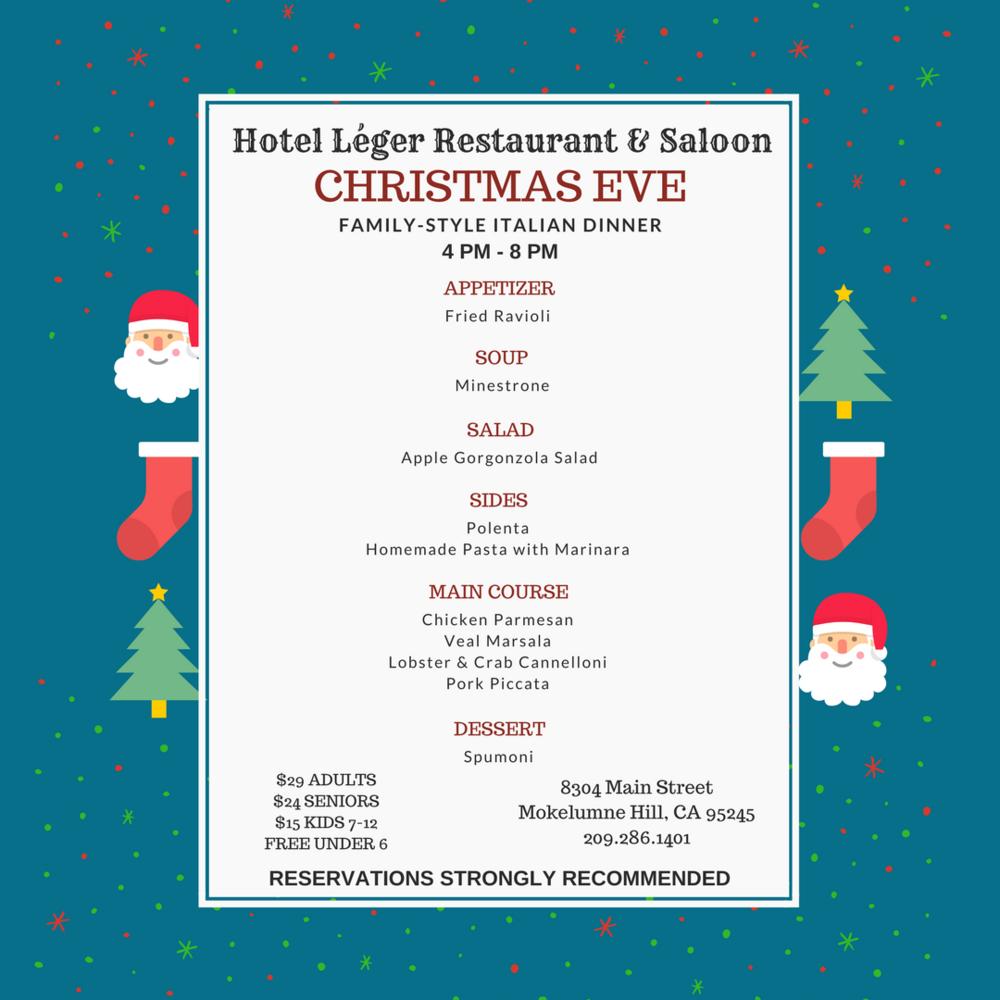 Family-Style Italian Christmas Eve Dinner — Hotel Léger Restaurant ...