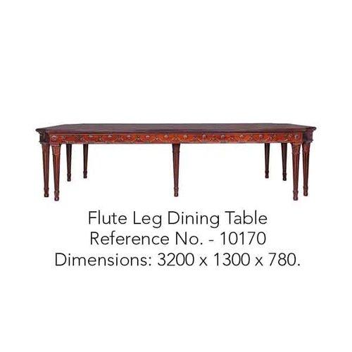 Flute Leg Dining Table