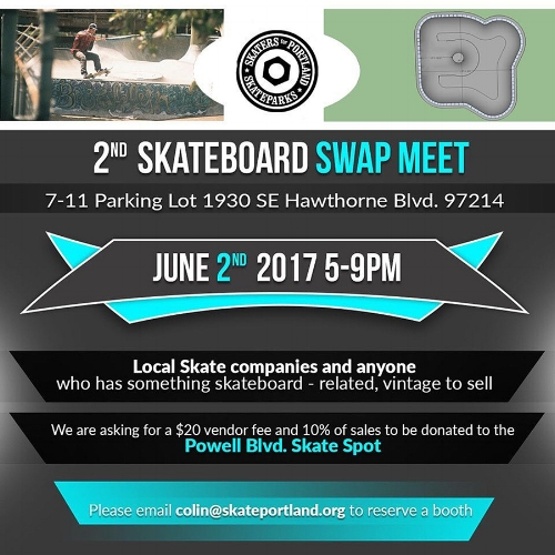 Swap Meet Fundraiser for the Powell Street Skate Spot