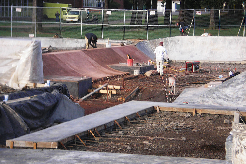 Glenhaven Skatepark construction underway by Dreamland Skateparks