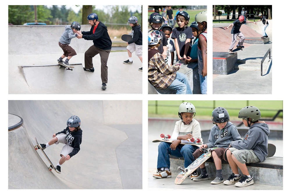 Ben Wixon's Summer Skateboarding Camp at Glenhaven Skatepark has proven to be a successful program which supports kids in the community and provides them with the fundamentals of skateboarding as well as interactive social skills and self-esteem. Photos by Earth Patrol Media