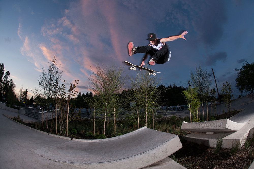 Ed Benedict Street Plaza's gap jump is a popular feature amongst locals and visitors.