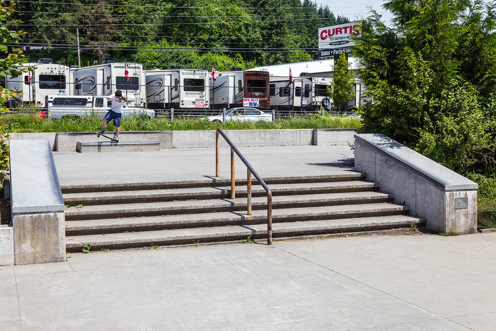 Hubbas, rails and ledges provide street skaters plenty of room to progress with their skills at Ed Benedict Skate Plaza.